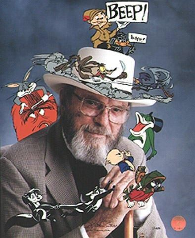 """Photo of Chuck Jones Signed """"In Character"""" 1997 Warner Brothers Limited Edition"""