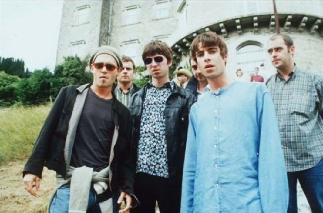 Johnny Depp and Oasis at Slane Castle, Ireland (22 July 1995)