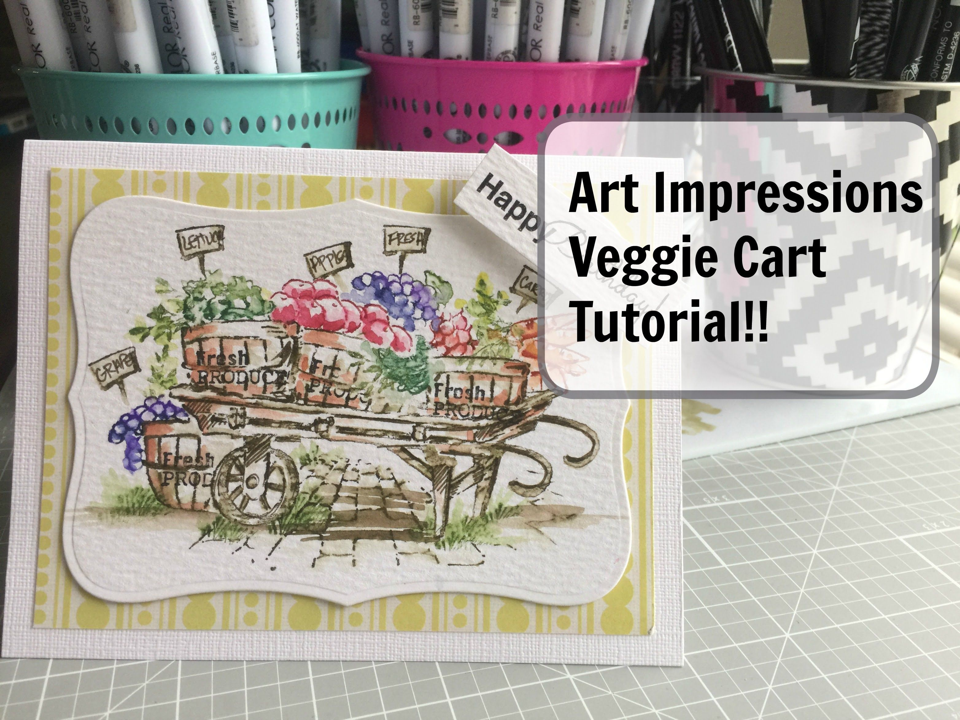 Art Impressions Rubber Stamps: Ai Wonderful Watercolor. Veggie Cart Products Used: **Foliage Set: http://artimpressio...