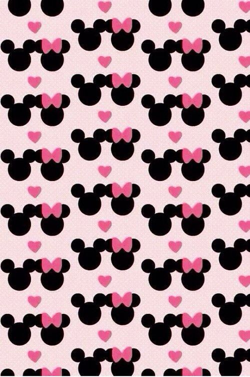 Adorable Awesome Bow Cute Design Hawt Love Mickey Minnie Mouse Pattern Pink Sweet Wallpaper