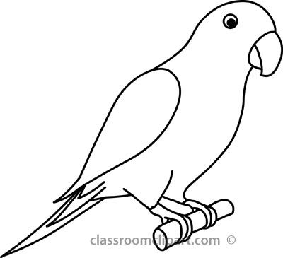 Parrot 3a Outline 22212 Jpg Outline Drawings Bird Outline Parrot Drawing