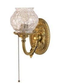 Caldwell Single Arm Sconce With Antique Shade  Art Deco, Art Nouveau, Traditional, Victorian, Glass, Metal, Flush Mount by Architectural Antiques