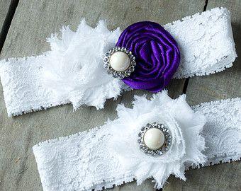 Liga de novia elige tu color diamantes de por ThePinkBunnyWeddings