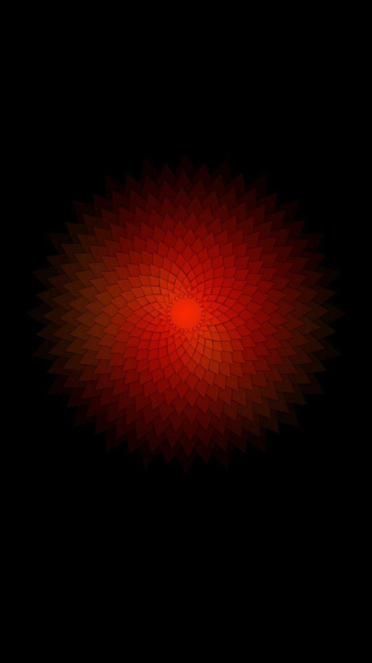 Black Red Light Darkness Circle Pattern Hd Dark Wallpapers