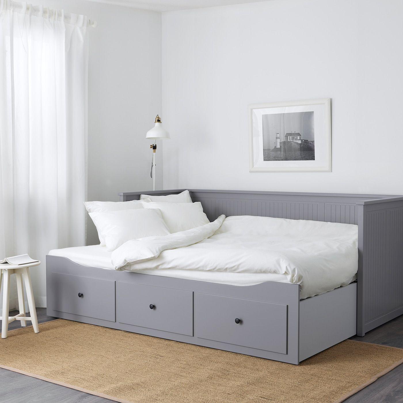 Hemnes Tagesbett 3 Schubladen 2 Matratzen Grau Moshult Fest Ikea Osterreich In 2020 Day Bed Frame Hemnes Day Bed Murphy Bed Ikea