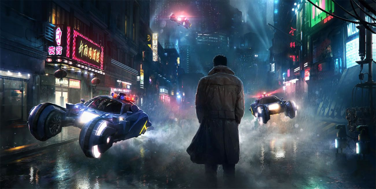 In The Heart Of The Neon Manga City Blade Runner Wallpaper Blade Runner Blade Runner 2049