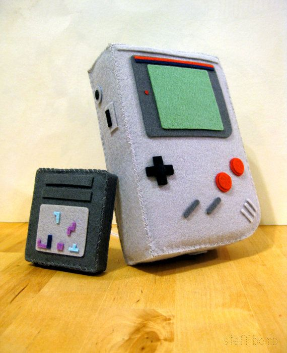 I Love Tetris I Love Sewing  Plush Gameboy by SteffBomb on Etsy, $250.00