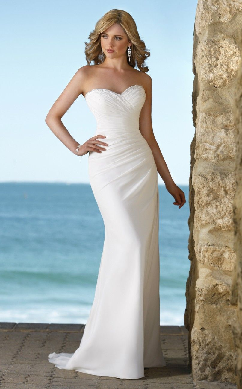 Exotic beach wedding dresses handmade elegant beach for Beach wedding dresses online