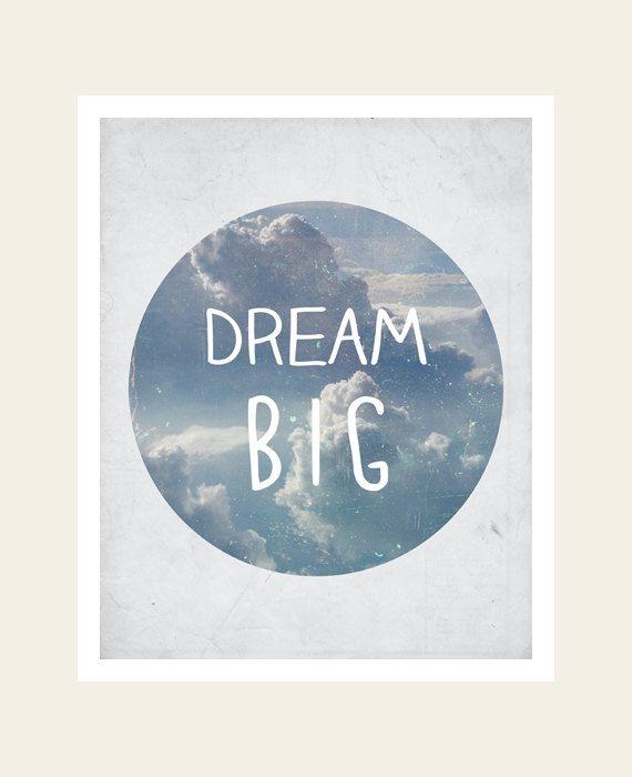 Dream Big  Inspirational Wall Art  Printable by PatiHomeDecor, $7.50