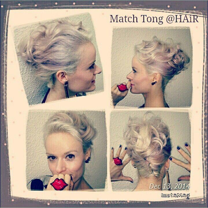 "Thk u Match Tong @HAiR for my lovely hairdo on 13/12/14 for ""新城電台灣仔節"" @ 銅鑼灣百德新街行人專用區 and also 沙田節日燈飾 -亮燈開幕晚會!"