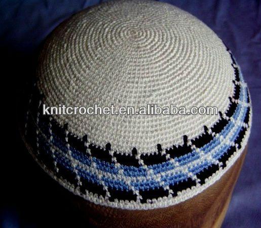 Jewish Knit Crochet Judaica Kippot Yarmulke Yarmulka Kippah Kipa ...