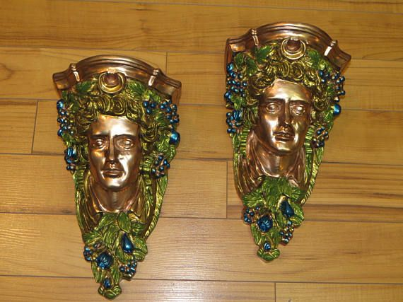 Shelf Brackets Wall Sconce Set Shelf Corbels Mermaid
