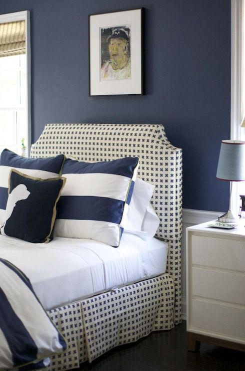 Bon Navy Blue And White So Crisp And Handsome.