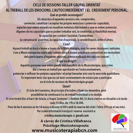 Tallers musicoterapia