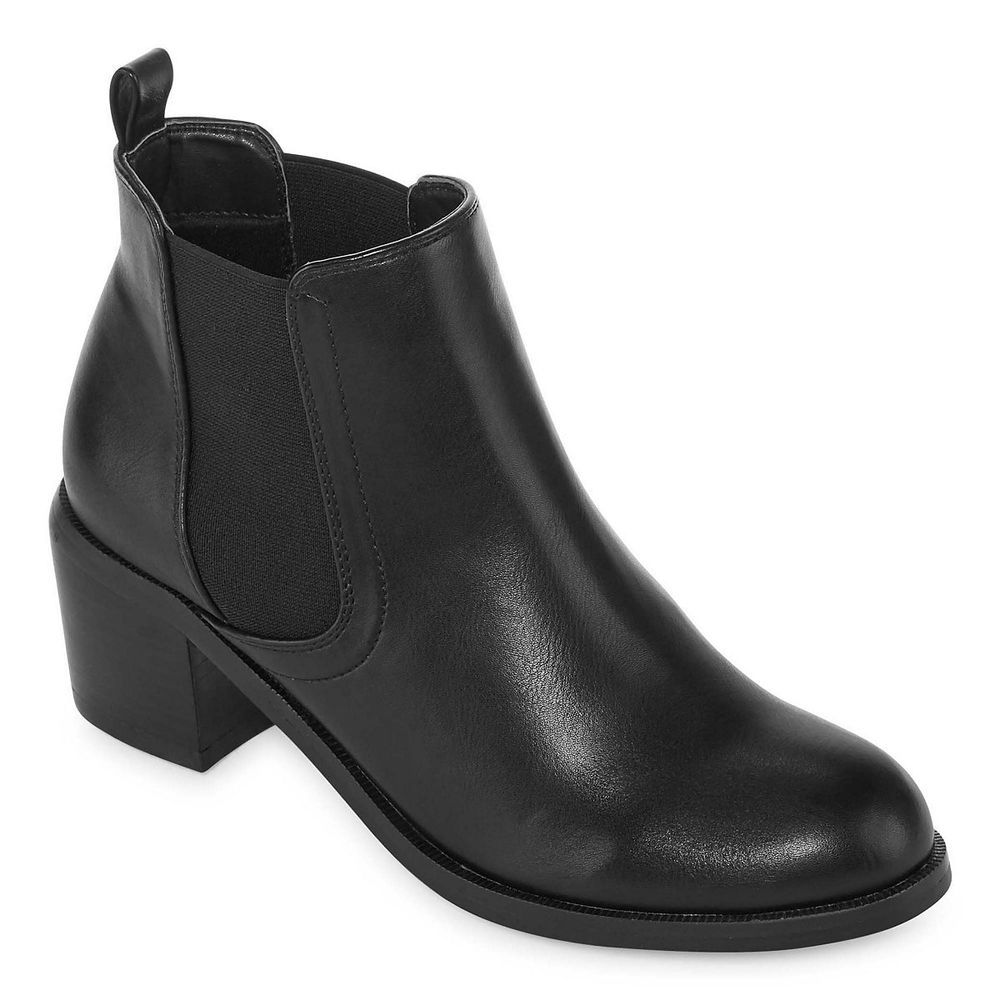 Diba London Womens Ankle Boots Office Dixie Slip Black Man Made Size 11 New