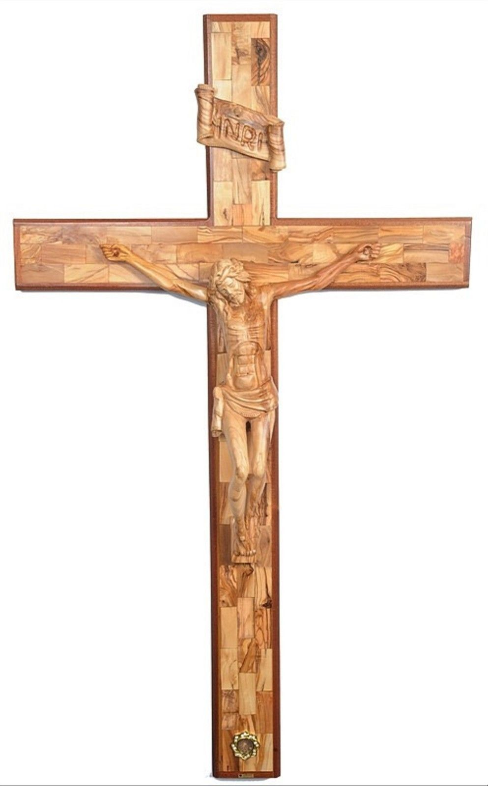Huge olive wood crucifix 6 feet very large carved wooden crucifix huge olive wood crucifix 6 feet very large carved wooden crucifix holy land ebay biocorpaavc Choice Image