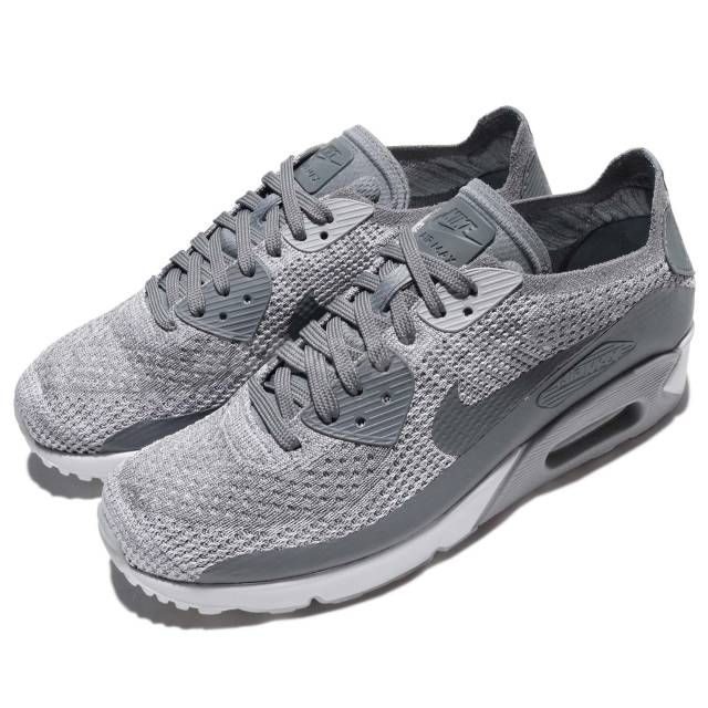 Nike Air Max 90 Ultra 2.0 Flyknit Grey White Men Running Shoe Sneaker  875943-003  0c3324e2b