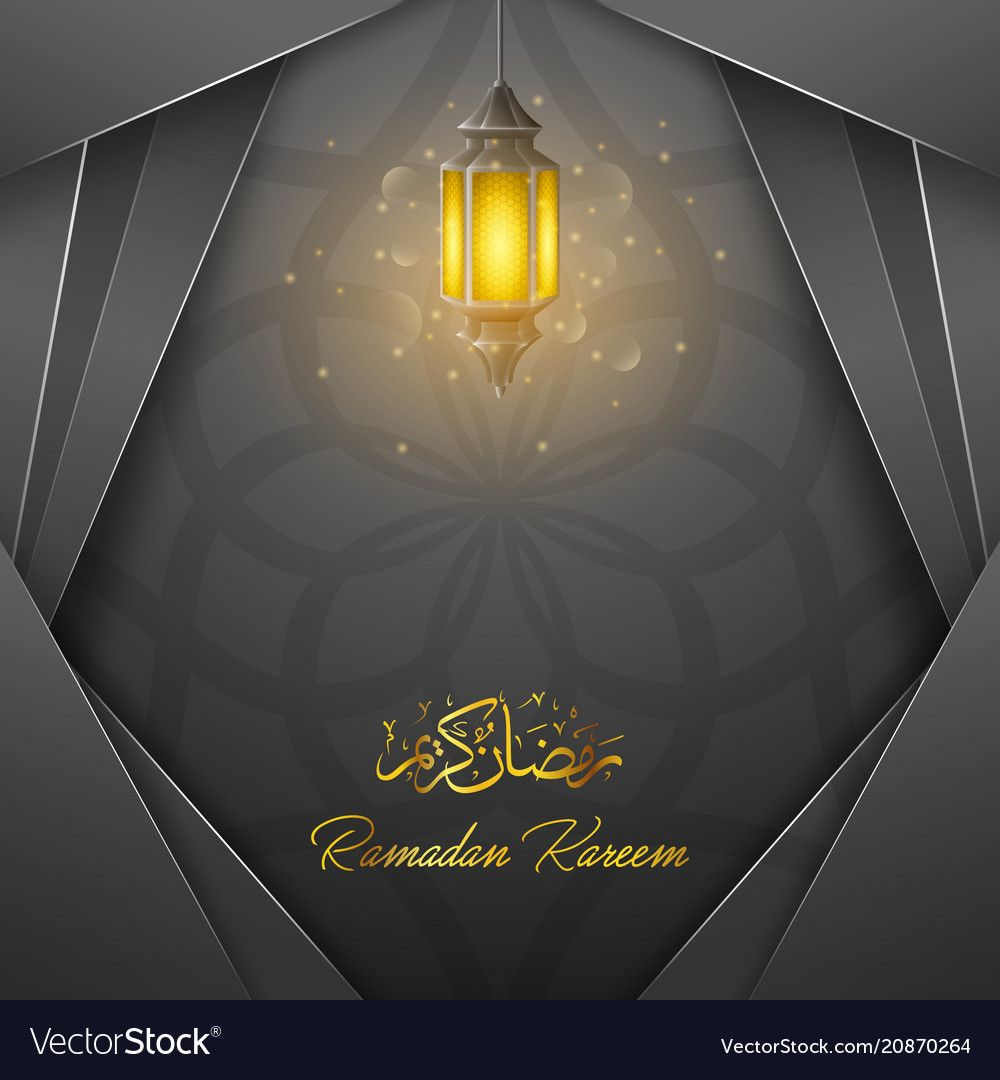 Vector Illustration Of Ramadan Kareem Greeting Card Template With Lantern Download A Free Preview Or High Ramadan Kareem Greeting Card Template Ramadan Images