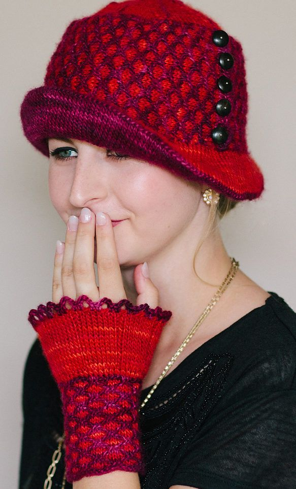 Knitting Pattern for Mercy Cloche and Mitts - This hat and matching ...