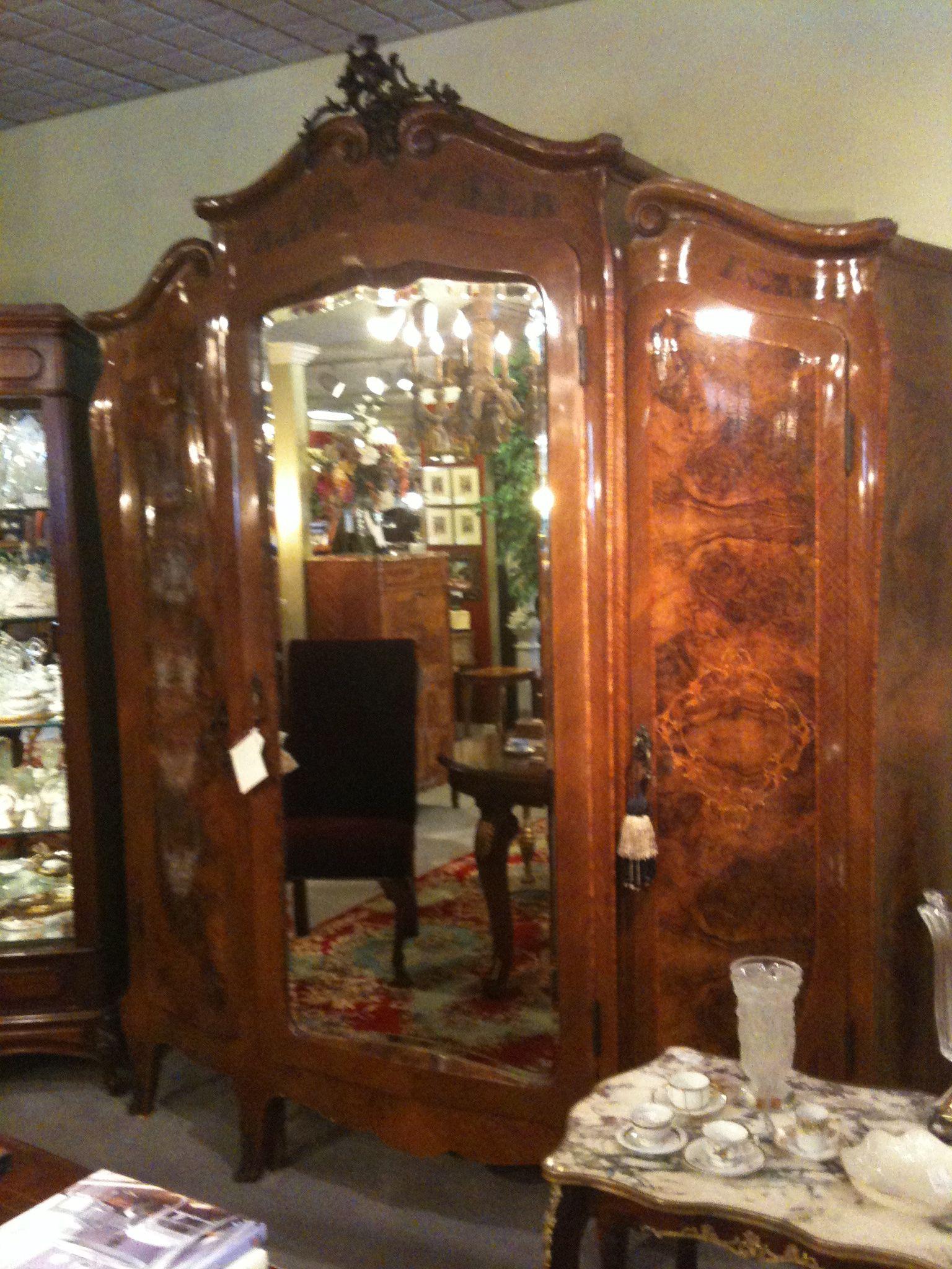 Carolyn Williams, Antiques & Interiors Atlanta, GA: Italian antique walnut  triple door armoire. - Carolyn Williams, Antiques & Interiors Atlanta, GA: Italian Antique