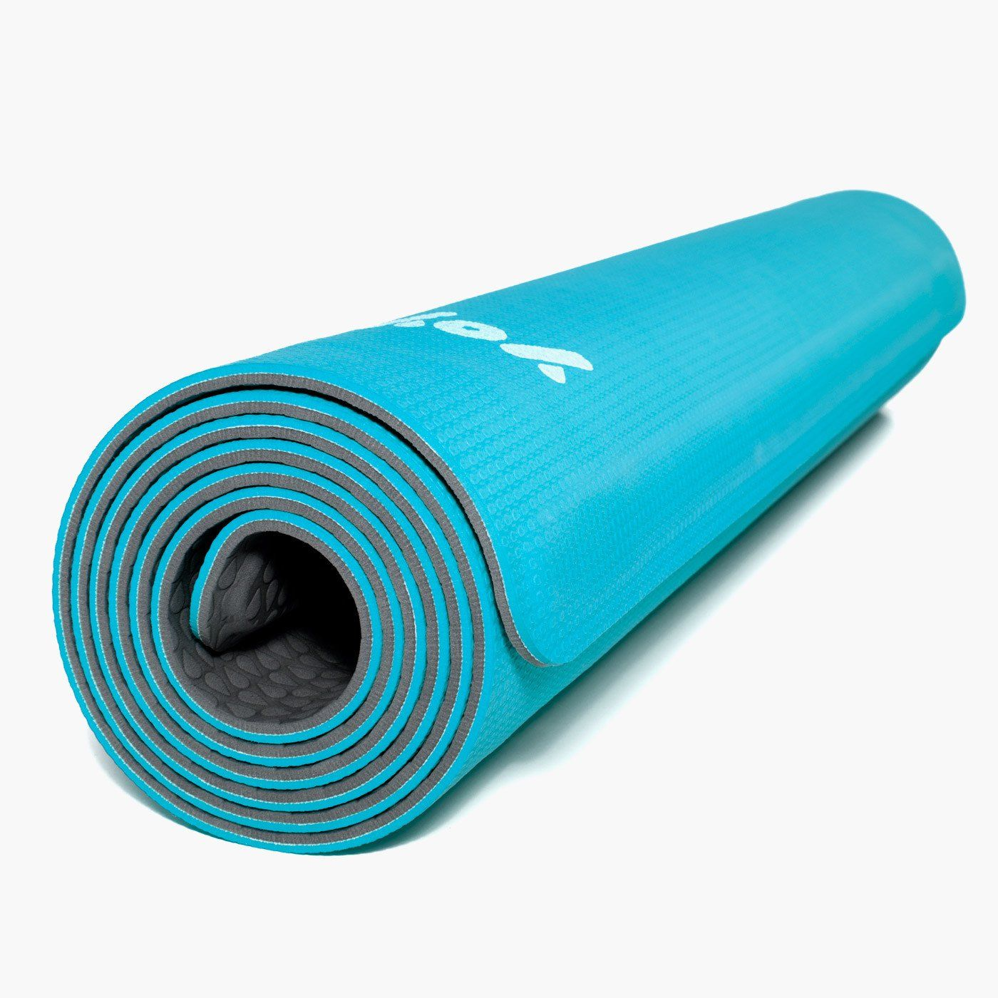 Yoyo Mat Self Rolling Yoga Mat 28 X 72 Blue Grey Click Image To Review More Details This Is An Affiliate Link Yoga Mat Cali Blue