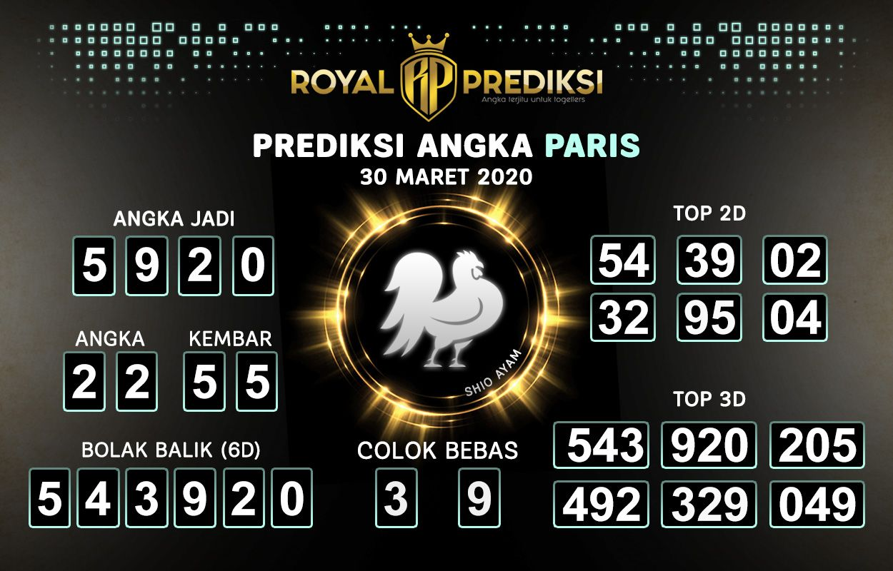 Prediksi PARIS 30 Maret 2020 Hari Senin di 2020 | Paris