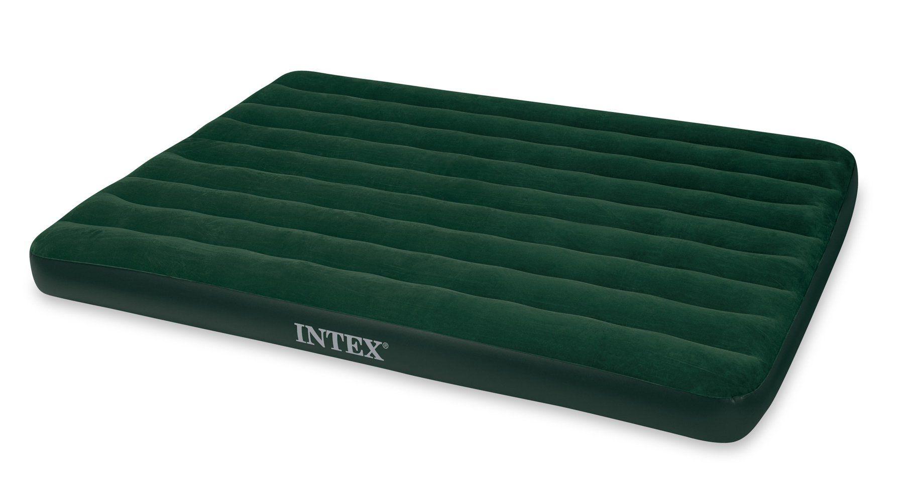 Intex Prestige Downy Airbed Kit With Hand Held Battery Pump Queen Gear And Gadgets Air Mattress Queen Mattress Mattress