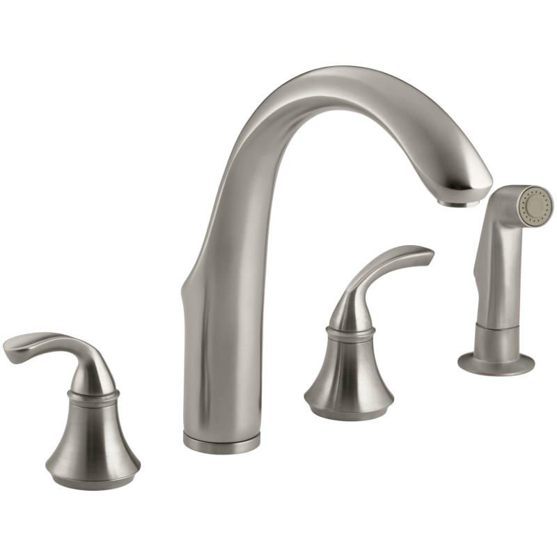 Kohler K 10445 Widespread Kitchen Faucet With Sidespray From The
