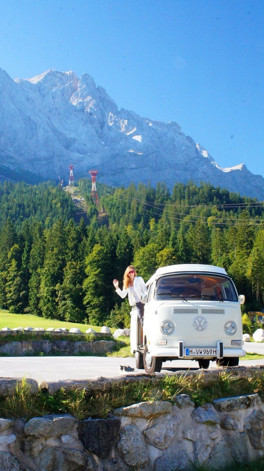 """Up to the top of Germany (the highest mountain """"Zugspitze"""" in the back). Found on Buggybayern"""