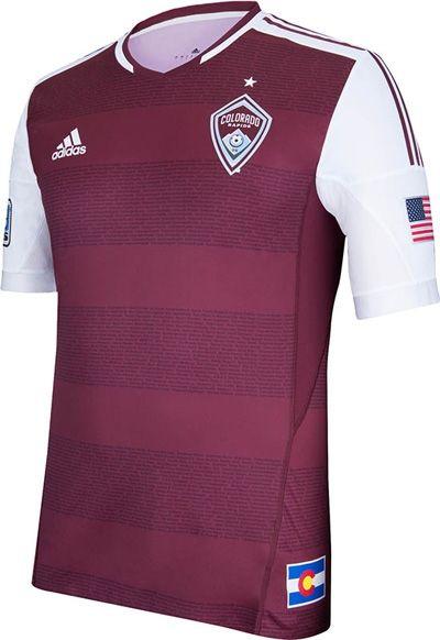 Colorado Rapids Adidas Home Shirts 2013  e11a966a1