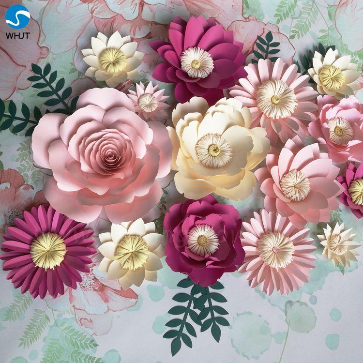 Wholesale Popular Wedding Diy Paper Flower Wall For Wedding