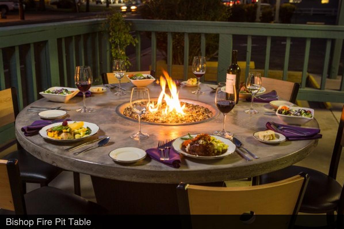 A Patio Dining Table With Propane Fire Would Be Nice For Outdoor Dinners Feuerstelle Garten Propan Feuerstellen Design Fur Aussenkuche