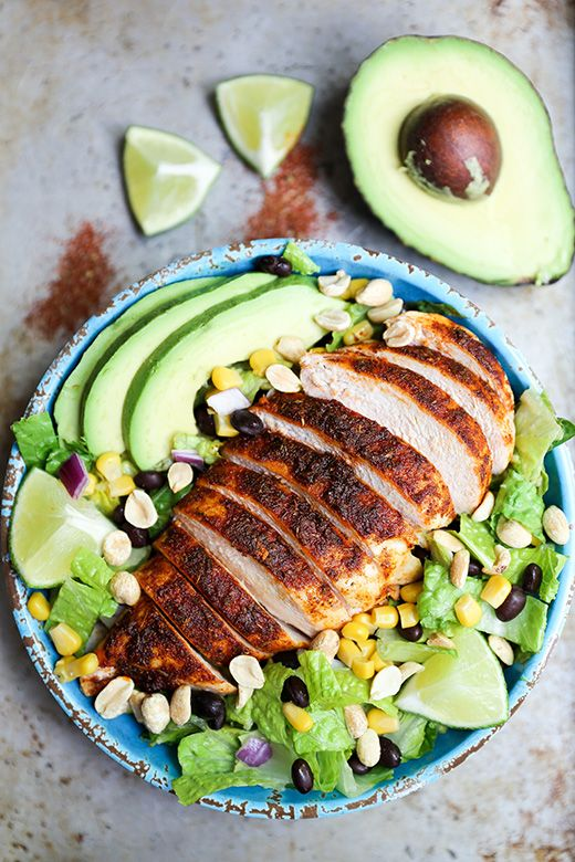 Spicy Southwest Chicken Salad With Peanut Lime Dressing Floating Kitchen Recipe Southwest Chicken Salad Delicious Salads Recipes