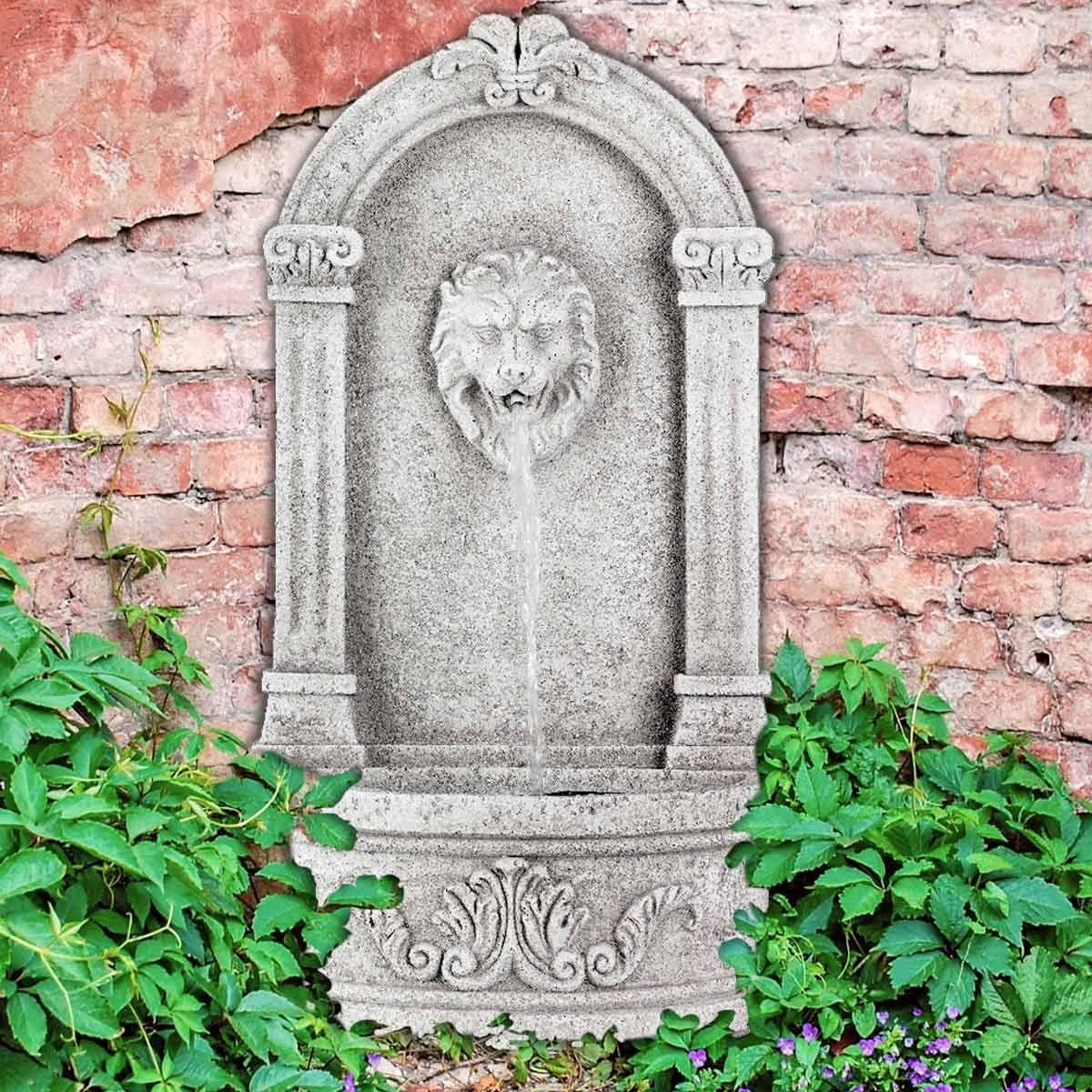 Jardin Classique À La Française fontaine extérieure en béton tête de lion en 2020 | fontaine