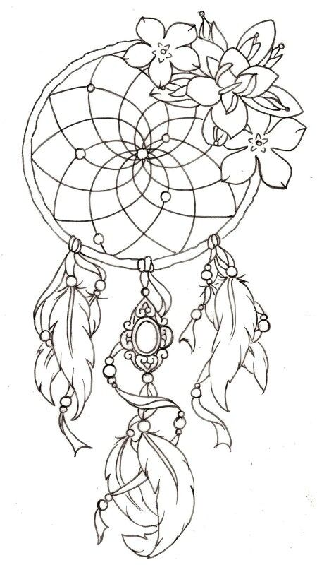 Dream Catcher Drawing DIY In 40 Pinterest Tattoos Dream Unique Pictures Of Dream Catchers To Draw