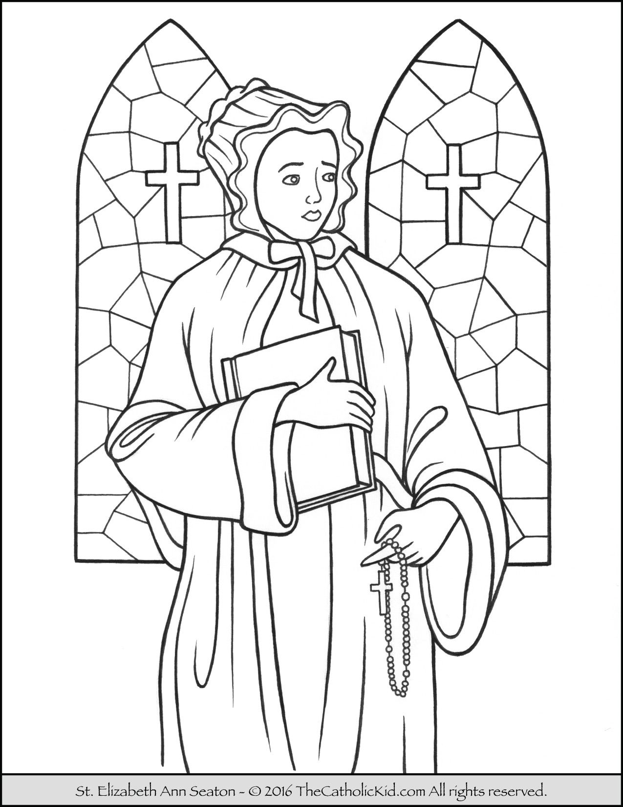 patron saint coloring pages - photo#32