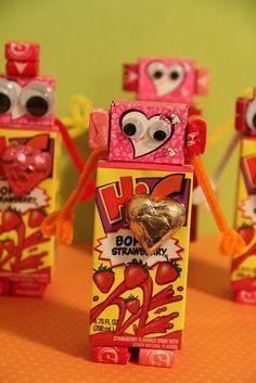 valentines mailboxes robot valentine - Valentine Ideas For Classmates