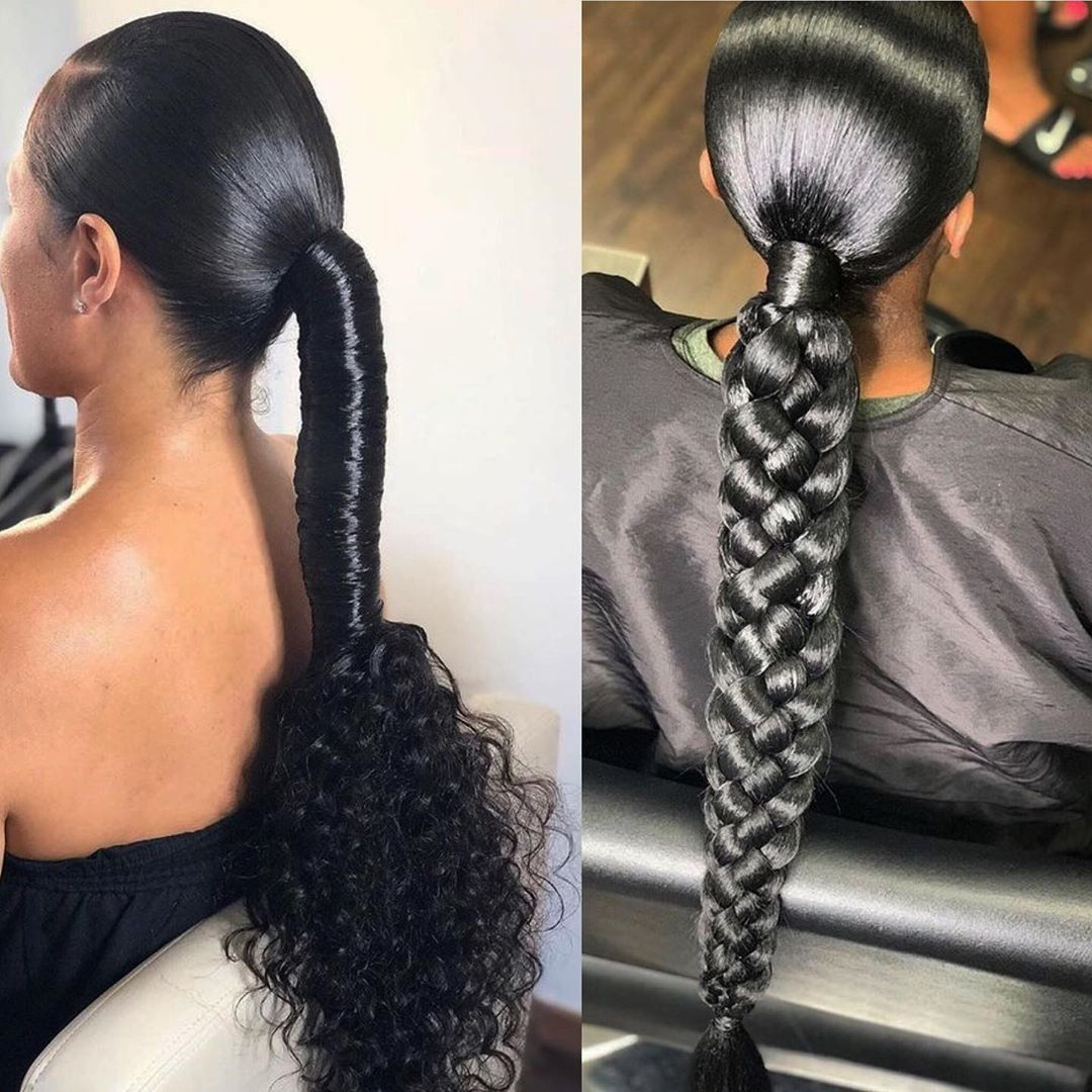 Hairstyles For Black Women On Instagram Cute Follow See Natural Tag The Sou Braided Hairstyles Ponytail Styles Hair Ponytail Styles