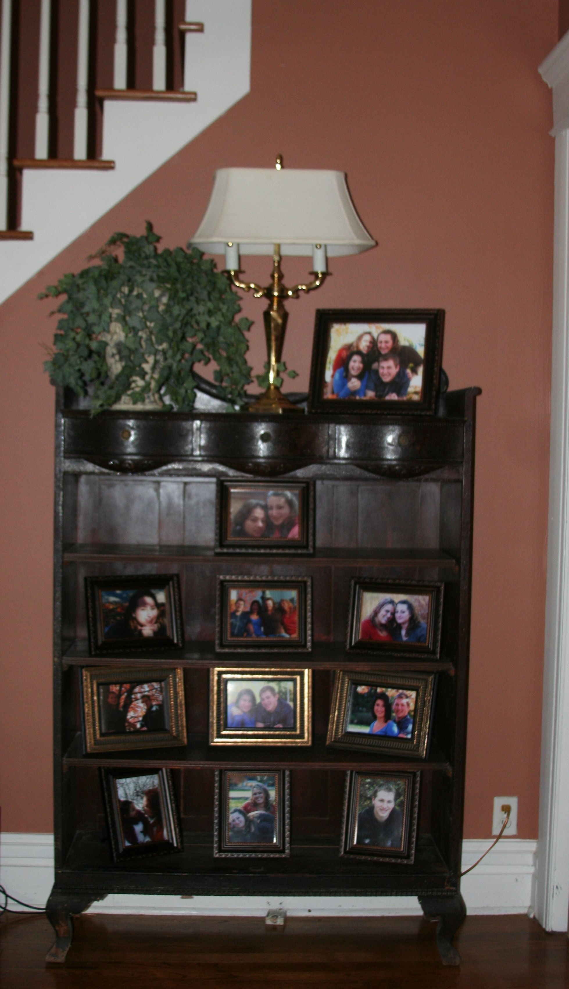Re Purposed An Old Curio Cabinet To Display My Family