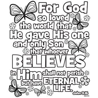 john 3 16 coloring pages Easter Coloring Picture John 3:16 | Easter | Easter, Coloring  john 3 16 coloring pages