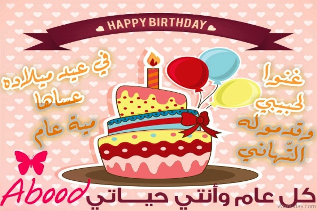Happy Birthday To You Arabic Islamic Vector Typography Card With