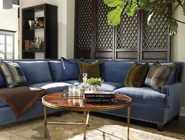 Denim Sectional Lillian August Fine Furniture Sectional Sofas