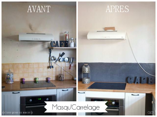 Cuisine Repeinte Avant Après on a repeint la cuisine au masqu'carrelage ! (avant/après)