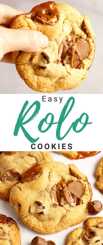 Gooey, chewy and utterly incredible, these Rolo Cookies are easier to make than you might think! Hands down the BEST cookie recipe you will ever try! Click for the easy step by step picture recipe, helpful tips, video tutorial and more... #rolo #rolocookies #caramel #caramelcookies #caramelrecipes #cookies #cookierecipes #easycookierecipes