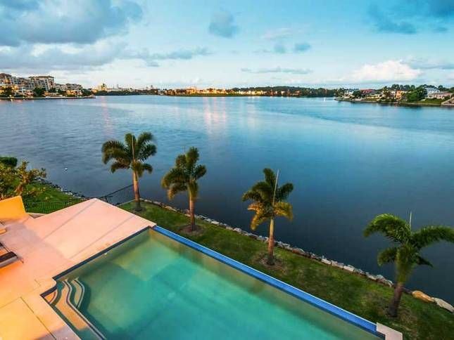 Opening shots, Gold Coast life by the lakes, palms, luxury