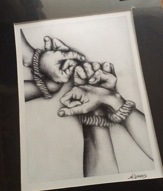 Drawing Hands Tied Rope Fist How To Draw Hands Rope Drawing Drawings