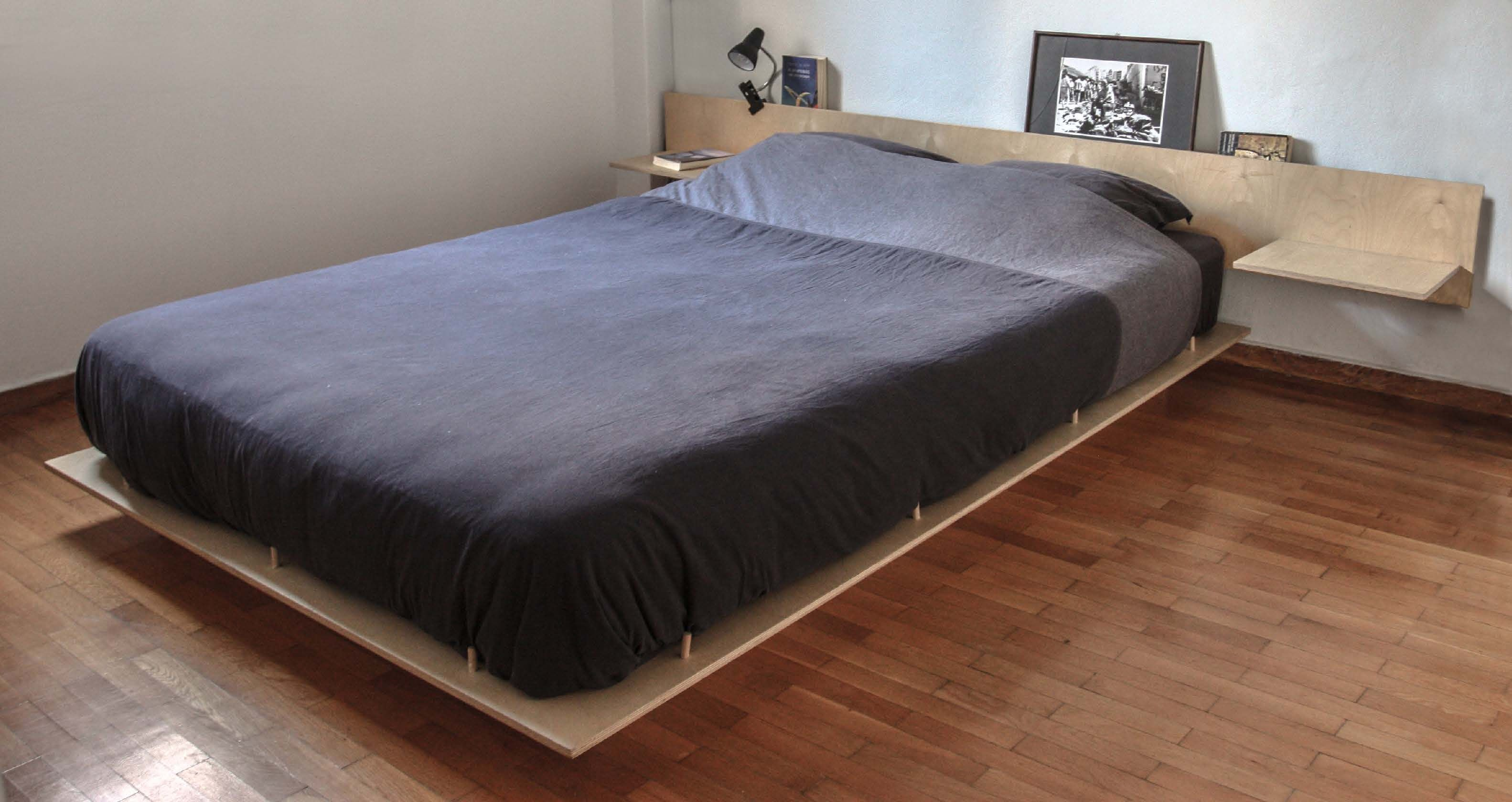 Plywood Floating Bed