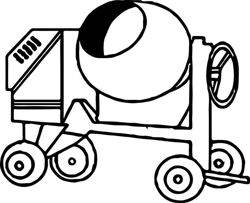 Cement Truck Vehicle Coloring Page See The Category To Find More