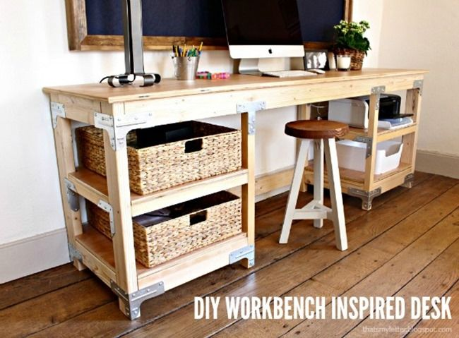 7 Diy Craft Desks Diy Wood Desk Diy Furniture Projects Diy