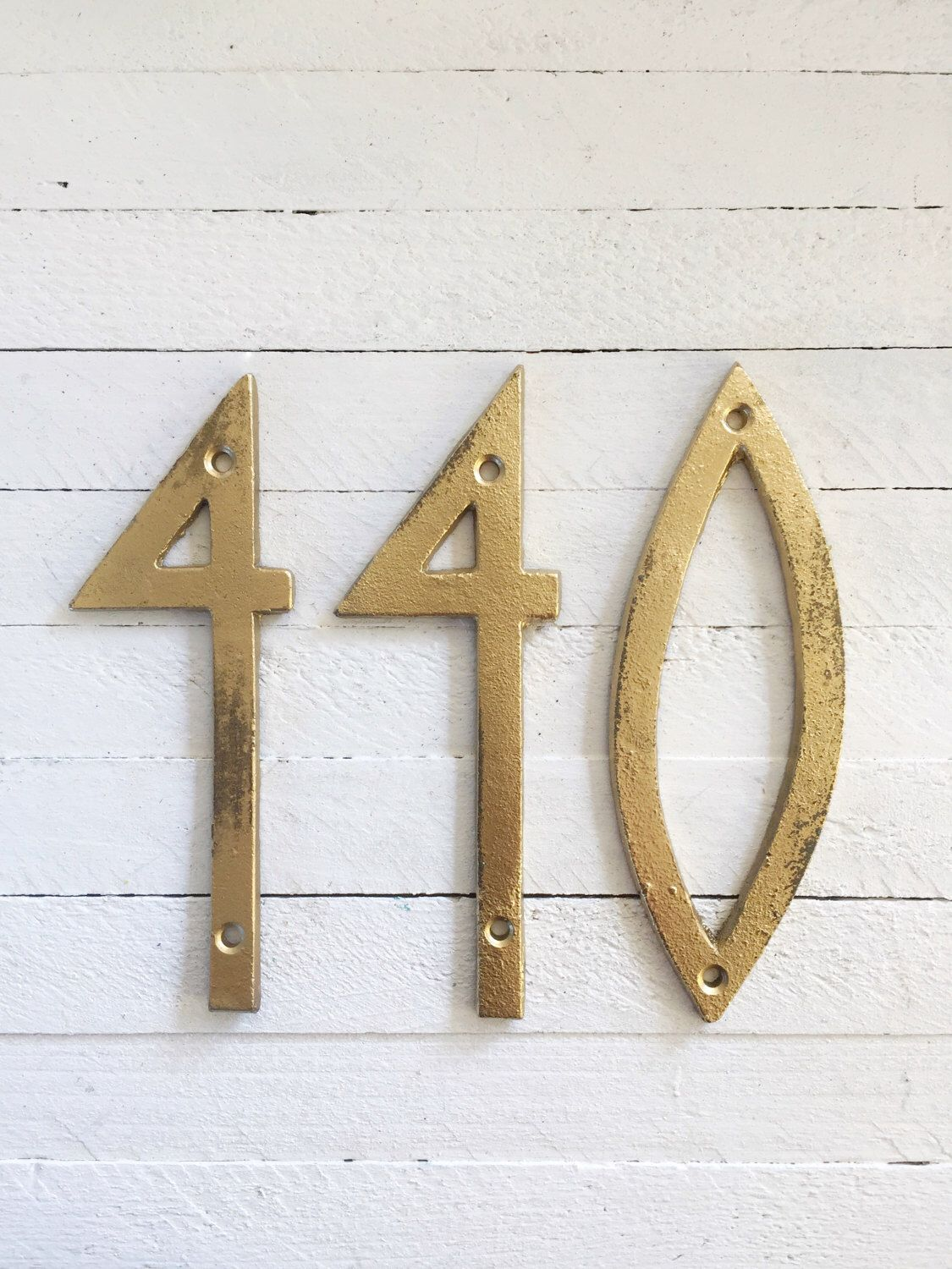 Cast Iron Numbers Modern House